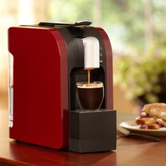 Verismo™ 580 Brewer Burgundy  Make all your favorite Starbucks® beverages at the touch of a button, one cup at a time, with the new Verismo™ 580 Brewer. Every machine ships with a box of our Caffè Latte Pods and includes free ground shipping. $199.00 http://websites-buy.com/starbucks-coffee-store