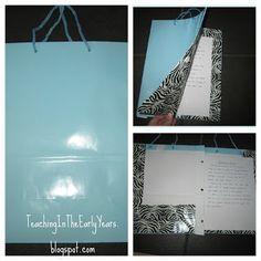 Classroom DIY: DIY Gift Bag Journal