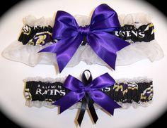 Handmade Wedding Garter Set Baltimore Ravens Keepsake and Toss Bridal pb1 on Etsy, $33.00