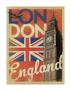 London, England (Flag) Posters by Anderson Design Group at AllPosters.com