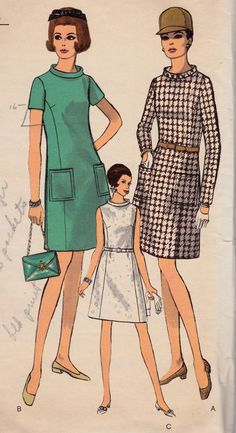 1960's Mod ALine Dress Womens Vintage Sewing by Sutlerssundries, $9.99