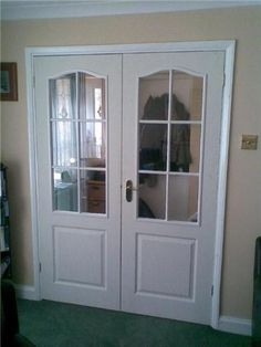 Internal double doors for the lounge Internal Double Doors, Home Renovation, China Cabinet, Home Improvement, New Homes, Lounge, Living Room, Cool Stuff, Storage