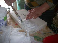 τεχνικη με χαρτι κουζινας