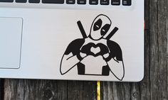 Deadpool Decal laptop decal vinyl decals macbook decal wall sticker car decal gift decal (3.20 USD) by EasyDecal