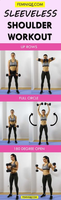Insane Shoulder Workout For Women at Home with Weights - If you want to lose sho. Insane Shoulder Workout For Women at Home with Weights - If you want to lose shoulder, arm and back fat then you need to start doing these routines. Fitness Workouts, At Home Workouts, Fitness Motivation, Yoga Fitness, Workout Routines, Workout Plans, Fitness Classes, Training Workouts, Exercise Motivation