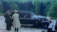 The Mercedes 770K limousine used by Adolf Hitler and other members of the Nazi high command is seen being used by the dictator during a stay at his Bavarian mountain home