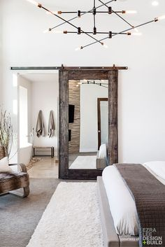 I love the mirrored barn door!