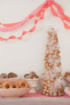 food + drink | donut Party | via: oh happy day!