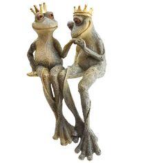 Garden Ornament Frog Prince and Princess Shelf by getgiftideas