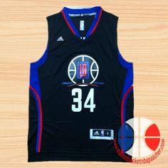 maillot basket nba Los Angeles Clippers Pierce #34 Noir nouveaux tissu