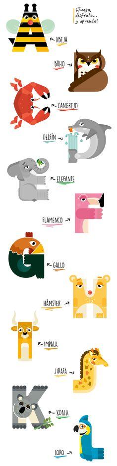 Imágenes tipográficas animales para jugar y descubrir el alfabeto | paredro.com