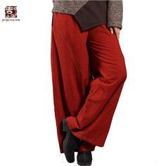 Jiqiuguer Brand Women Winter Linen Cotton Pants Elastic Waist Wide Leg Pants Trousers Casual Long Pants With Pockets K0207  #model #instafashion #cute #ootd #fashion #fashionista #beauty #beautiful #glam #instastyle