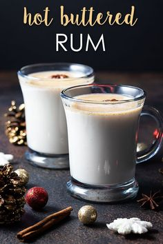 Hot Buttered Rum - A comforting hot cocktail recipe that is so easy to prepare. Perfect for sipping by the fire or holiday gatherings! #rum #cocktail #hot #recipe #holiday