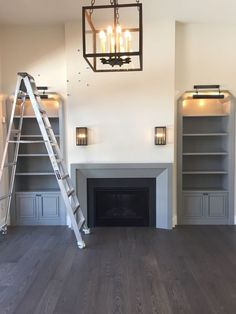 6 Industrious Cool Ideas: Fireplace With Tv Living Room fireplace outdoor cabin.Fireplace Hearth With Built Ins. Simple Fireplace, Fireplace Seating, Fireplace Bookshelves, Fireplace Built Ins, Home Fireplace, Fireplace Remodel, Brick Fireplace, Fireplace Surrounds, Fireplace Design