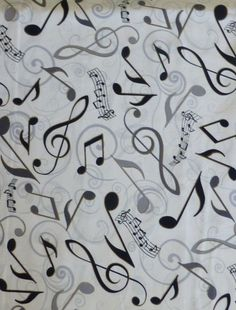 Cotton Fabric, Quilt, Home Decor Fabric, Musical Notes, All the Jazz by Fabric De Villenueve Studio for Robert Kaufman,  Fast Shipping