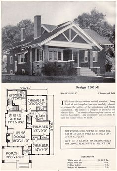 Vintage Craftsman Bungalow Plans