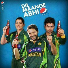 Sana Mir , Shahid Afridi & Ahmed Shahzad <3