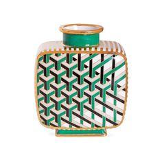 Jonathan Adler Versailles Maze Vase ($295) ❤ liked on Polyvore featuring home, home decor, vases, green, jonathan adler home decor, footed vase, green vase, porcelain vase and jonathan adler