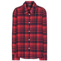 A.P.C. Plaid Cotton Shirt found on Polyvore