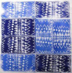 african repeat prints