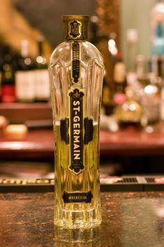 Cucumber-Elderflower Martini                           2 pts cucumber vodka  1.5 pts St Germain  1pt simply syrup  squeeze of fresh lime  cucumber wheel garnish