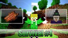 Minecraft - [Survival #1] - [Vivendo a Base de Carne Podre]