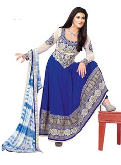 Indian Bollywood Designer Anarkali Salwar Kameez Straight Pakistani Dess Suit #SKPD #AnarkaliStyle