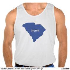 South Carolina Home State Blue Tanktops Tank Tops