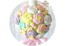 Lumanare de botez cu marshmallows si bezele peach roz galben alb & bleu PRET http://ift.tt/2oy8fHo - http://ift.tt/1ipRjKg -