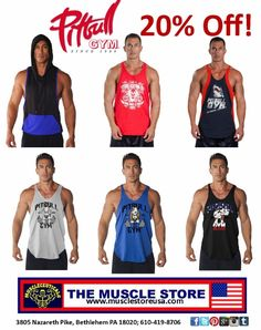 136f4a47663f8 All Pitbull Tanks are 20% Off! www.musclestoreusa.com  Pitbullgym