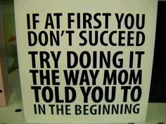 If at First You Don't...