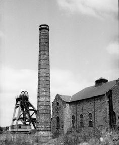 Cadley Hill Colliery Derbyshire Chimney With Spiral