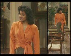 Phylicia Rashad~ Clair Huxtable, Cosby Show Diy Fashion, Retro Fashion, Vintage Fashion, Romy And Michelle, Mom Characters, Phylicia Rashad, The Cosby Show, Old School Fashion, Vintage Black Glamour
