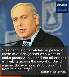 Powerful quote from Benjamin Netanyahu