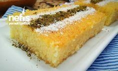 Süt Şerbetli 3 Dakika Tatlısı Turkish Recipes, Ethnic Recipes, Turkish Sweets, Turkish Delight, Mini Cheesecakes, Homemade Beauty Products, Food Cakes, Cornbread, Cake Recipes