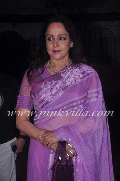Hema Malini at Nari Hira's birthday bash