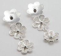 Chandelier plata .950 flor con espirales de filigrana