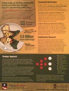 One-pager about the Texas Hunger Initiative.