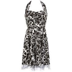 White halter neck prom dress ($69) ❤ liked on Polyvore