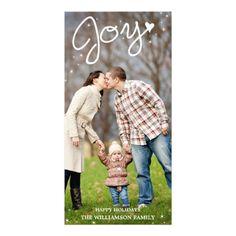 Glistening Joy Vertical Holiday Photo Card by Orabella Prints