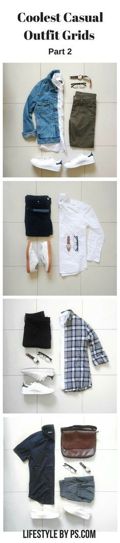 casual outfit grids