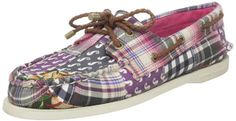 Sperry Top-Sider Women`s AO Patchwork Boat Shoe,Berry Patchwork,9 M US $74.95