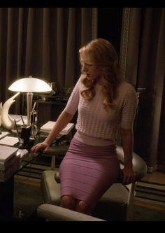 Petra Solano looking pretty in a Pink Carvel sweater and a lavender bondage dress Jane the Virgin (Season 1 Episode 17)