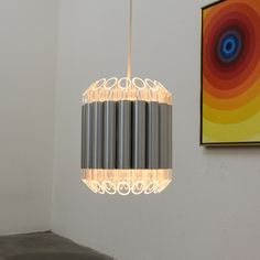 """Septiem"" Hanging Lamp Light Fixture, RAAK, Amsterdam, c. late 1960s / early 70s"