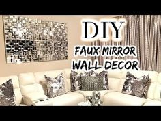 """Diy: """"Z Gallerie Axis Mirror"""" Inspired- Glam Wall Decor(using Dollar Tree items) - YouTube"""