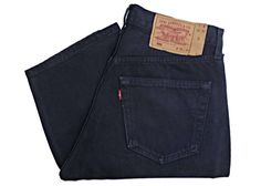 Vintage Levis 501 Jeans USA Made Navy Blue Almost Black Denim W31 L32 by BlackcatsvintageUK on Etsy