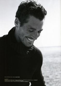 David Gandy shows that a true smile shows in the eyes. They should always crinkle. I think this is my favourite MAN photo of all time ! David Gandy, Beautiful Smile, Gorgeous Men, Look At You, How To Look Better, Smiling Man, Raining Men, Perfect Man, Belle Photo