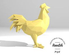 Printable DIY template PDF PDO dxf.  Flying Cat low poly