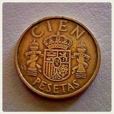100 pesetas!! la paga semanal de muchos jajaja Eighties Party, 1975, Old Coins, Childhood Memories, Nostalgia, Retro, Vintage, Report Cards, Old Money