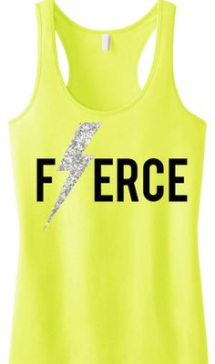 Kick @S s #Fitness #Workout Tank Top. FIERCE Glitter Lightning Tank by #NobullWomanApparel, $24.99 on Etsy. Click here to buy https://www.etsy.com/listing/189730498/fierce-glitter-lightning-workout-tank?ref=listing-3